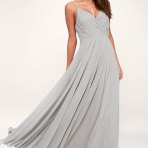 Lulus All About Love Grey Maxi Dress